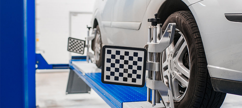 A vehicle having its wheels aligned - Wheel Alignment Tonbridge